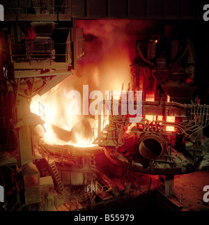 Charging Furnace with Scrap Metal, Aldwarke, Rotherham, South Yorkshire - Stock Photo