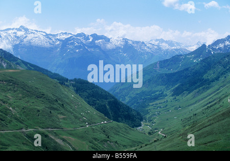 The Col du Tourmalet in the Pyrenees is especially famous for being on the [Tour de France] route - Stock Photo