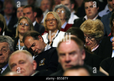 Conservative Party Conference at the Winter Gardens Blackool 2007 The snorry party Delegates fail to keep awake - Stock Photo