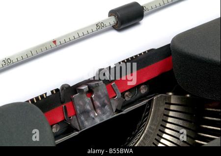 Typewriter close up at an angle