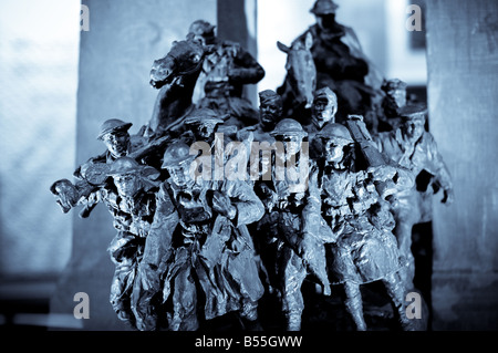 A miniature replica of the National War Memorial in downtown Ottawa, Ontario, Canada. - Stock Photo