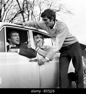 Motor Cars: 31 year old Bryan Nash of Nunhead, with his 1966 MK1 Ford Contina, with co-diver Brian Ashley (22) of - Stock Photo