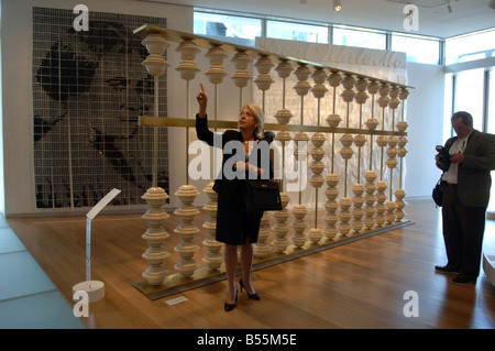 The Museum of Arts and Design opens at Columbus Circle Running the Numbers 2008 by Thomas Glassford - Stock Photo