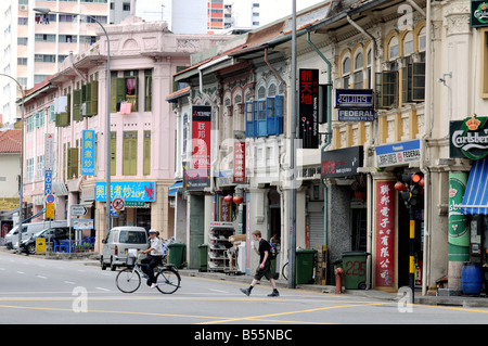 jl besar, little india singapore - Stock Photo