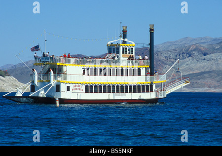 Excursion Boat Desert Princess Cruises at Hemenway Lake Mead near Las Vegas Nevada USA - Stock Photo