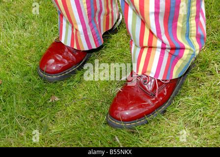 clown feet London - Stock Photo