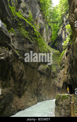 Partnachklamm, Partnach Gorge, near Garmisch-Partenkirchen, Bavaria, Germany Stock Photo