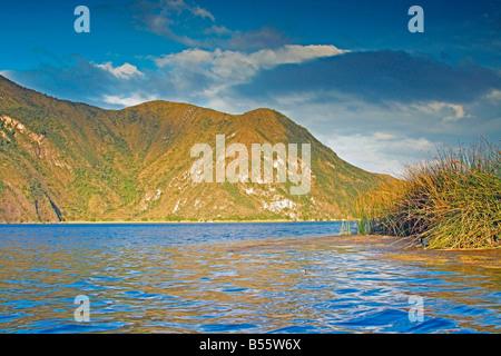 Cuicocha Laguna, a crater lake on Cotacachi volcano, Ecuador - Stock Photo