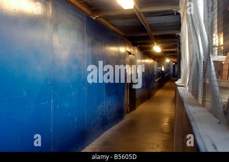 Pedestrian corridor in a construction site in New York Richard B Levine - Stock Photo