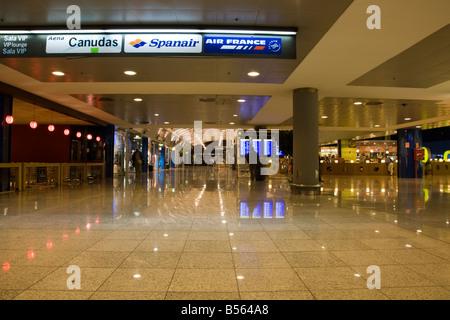 Inside Barcelona airport in the departures lounge El Prat, Barcelona, Spain - Stock Photo