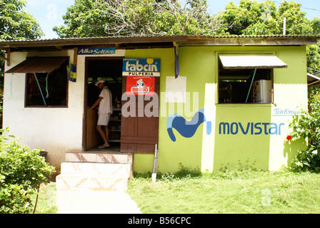 General store or pulperia on Big Corn Island, Nicaragua, Central America - Stock Photo
