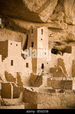 Indian ruins Mesa Verde National Park, Colorado,USA - Stock Photo