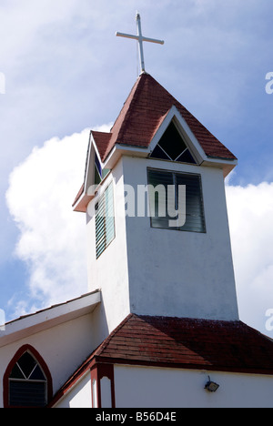 Ebeneezer Baptist Church on Big Corn Island, Nicaragua, Central America - Stock Photo