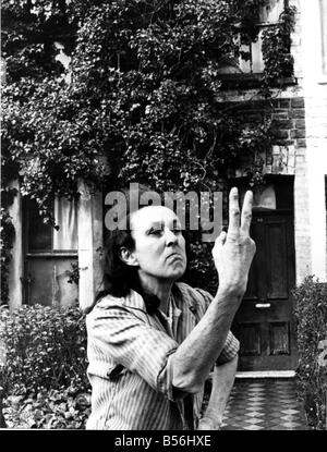 Animal lover Miss Margaret Williiams outside her house in Richards Street Cathays were she lives with her dogs and - Stock Photo