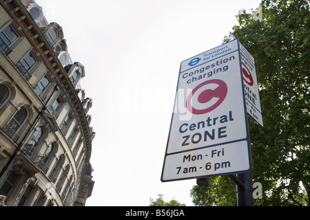 Congestion charge sign - Stock Photo