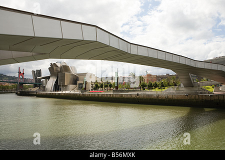 Bridge bilbao spain - Stock Photo