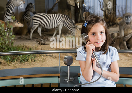 Girl in a museum - Stock Photo
