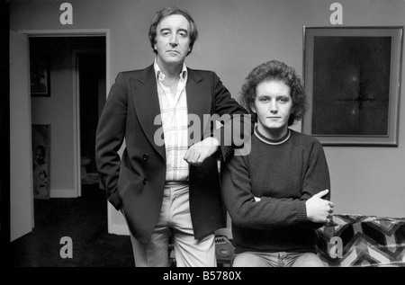 Actor Peter Sellers and Son Michael. Comedian Peter Sellers and his son Michael pictured today in Peter's flat in - Stock Photo