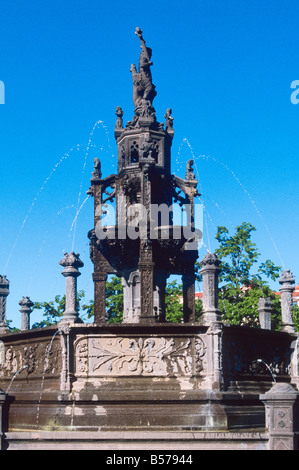 FOUNTAIN IN AMBOISE PUY DE DOME AUVERGNE FRANCE - Stock Photo
