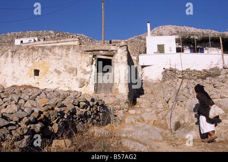 greece, dodecanese islands, karpathos, avlona village - Stock Photo