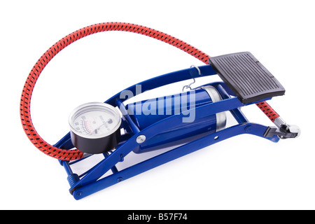 Foot pump isolated on a white background - Stock Photo