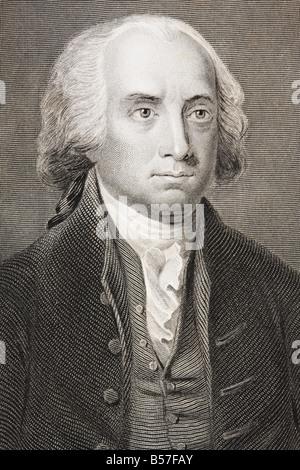 James Madison 1751 1836 Fourth president of the United States 1809 1817 - Stock Photo