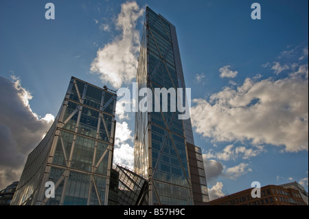 External view 201 Bishopsgate and the Broadgate tower 201 Bishopsgate and The Broadgate Tower, London, City. - Stock Photo