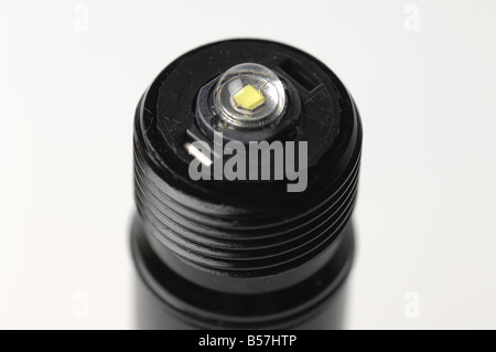 Flashlight (torch) with a high-power white LED. - Stock Photo