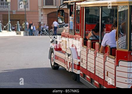 A tour train in Monaco - Stock Photo