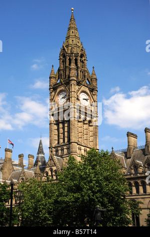 Town Hall, Albert Square, Manchester, England, United Kingdom, Europe - Stock Photo