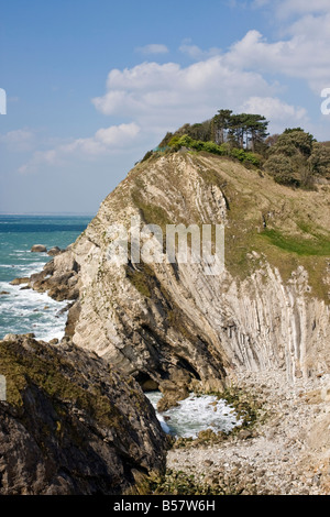 Stair Hole, Lulworth Cove, Dorset, England, United Kingdom, Europe - Stock Photo