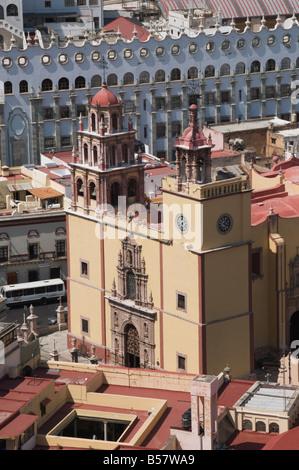 The Basilica de Nuestra Senora de Guanajuato, Guanajuato, Guanajuato State, Mexico - Stock Photo