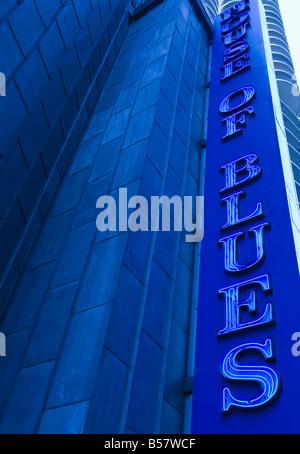 The House of Blues, live music venue, Marina City, Chicago, Illinois, United States of America, North America - Stock Photo