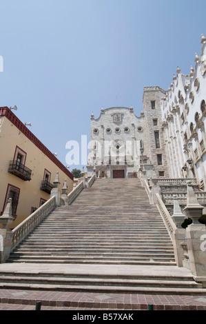 The University of Guanajuato, in Guanajuato, a UNESCO World Heritage Site, Guanajuato State, Mexico, North America - Stock Photo