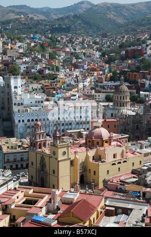 The Basilica de Nuestra Senora de Guanajuato, in Guanajuato, Guanajuato State, Mexico - Stock Photo