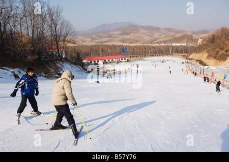 Yabuli ski resort, Heilongjiang Province, Northeast China, China, Asia - Stock Photo