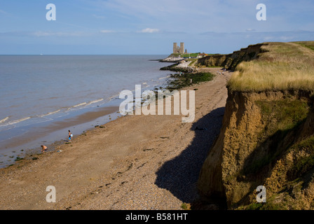 Reculver Towers, Herne Bay, Kent, England, United Kingdom, Europe - Stock Photo