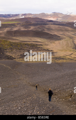 Hverfjall volcano, Reykjahlid, Iceland, Polar Regions - Stock Photo