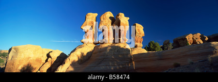 Sculptured rock formations, Devil's Garden, Grand Staircase Escalante, Utah, United States of America, North America - Stock Photo