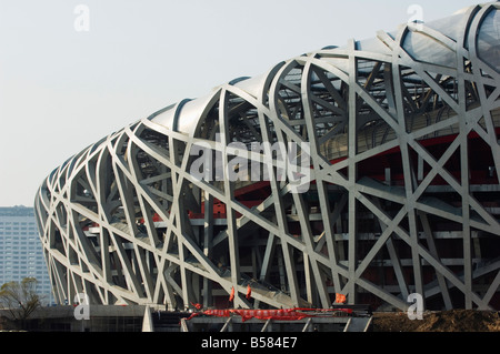 National Stadium 2008 Beijing Olympic venue, Beijing, China, Asia - Stock Photo