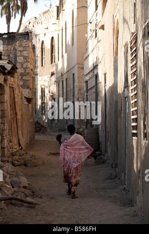 Daily life in the coastal town of Massawa, Eritrea, Africa - Stock Photo