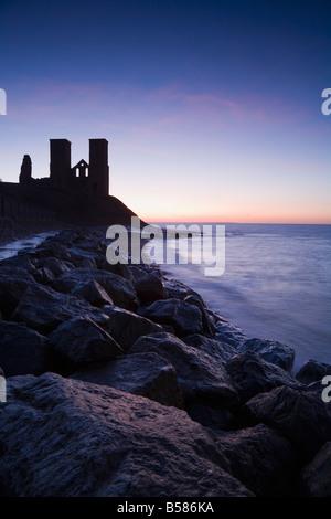 Reculver Towers, Kent, England, United Kingdom, Europe - Stock Photo