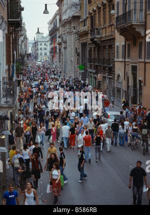 Italy lazio rome via del condotti street sign on the for Corner via del corso roma