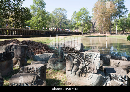 Causeway of Baphuon Temple, Angkor Thom, Angkor, UNESCO World Heritage Site, Siem Reap, Cambodia, Indochina, Southeast - Stock Photo