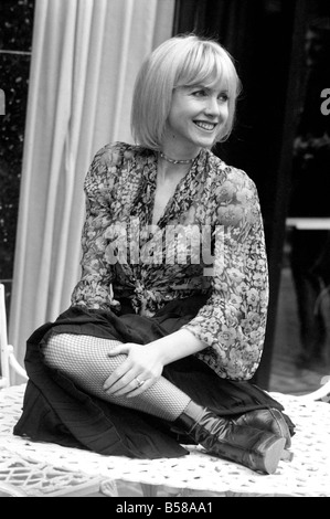 French film actress Bulle Ogier pictured at the Bohemian Bar of the Chelsea Hotel, in London. February 1975 75-00948 - Stock Photo