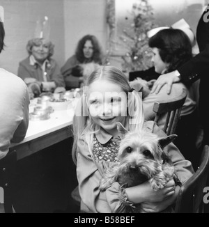 Dog Owners and their pets seen here having a Christmas party. December 1976 76-07481-001 - Stock Photo