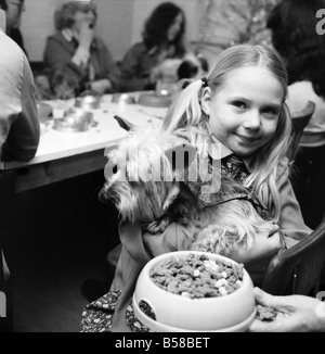 Dog Owners and their pets seen here having a Christmas party. December 1976 76-07481-005 - Stock Photo