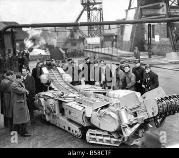 This 15 ton continous miner has been imported from the United States for experiments in British mines It is claimed - Stock Photo