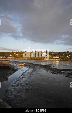 View from Point across Penpol Creek towards Trolver Croft, Truro, Cornwall, England, UK - Stock Photo