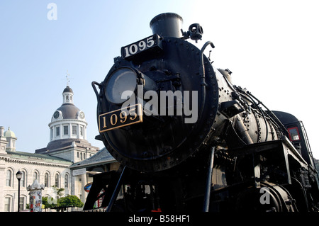The Spirit of Sir John A, CPR Engine 1095 built by Canadian Locomotive Company in 1913, Kingston, Ontario, Canada, - Stock Photo